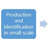 Production and identification in small scale